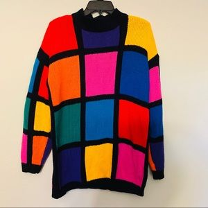 CSL| Vintage Colorblock Sweater